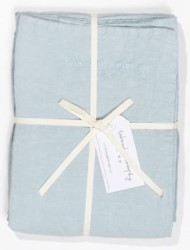 Bed and Philosophy Linen Duvet cover Aqua 3