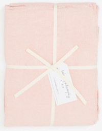 Bed and Philosophy Linen Flat Sheet Blush 1