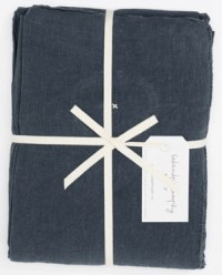 Bed and Philosophy Linen Flat Sheet Charbon 1