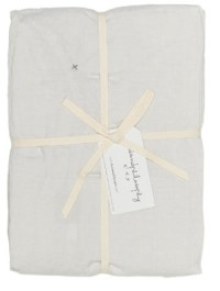 Bed and Philosophy Linen Flat Sheet Plume 1