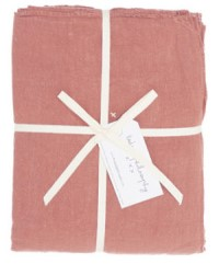 Bed and Philosophy Linen Flat Sheet Rosebud 2