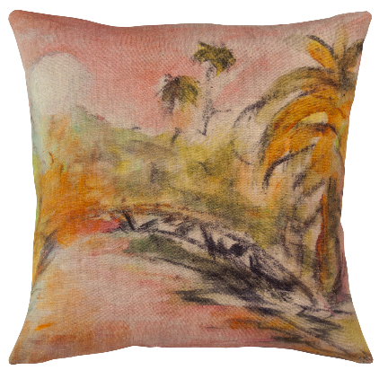 Genevieve Levy Cushions Lune Rose-630-897