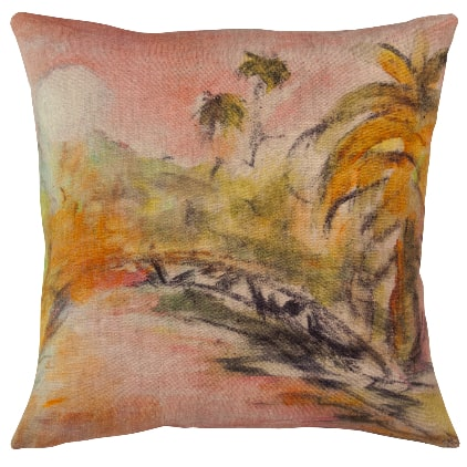 maison-levy-printed-linen-cushion-from-Paris