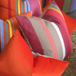 Striped cushions 315