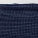 washed waffle linen hand towel navy blue c