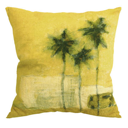 Genevieve Levy Camion Verde Cushion 55cm (available to order)