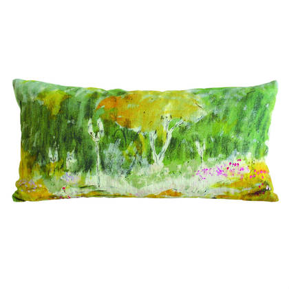 Genevieve Levy Chemin Fleuri Cushion 44 x 22cm  (available to order)