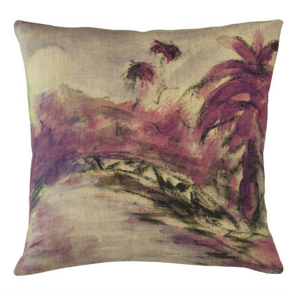 Genevieve Levy Lune Violette Cushion 55cm (available to order)