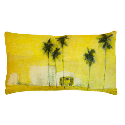 Genevieve Levy Camion Verde Cushion 50 x 30cm (available to order)