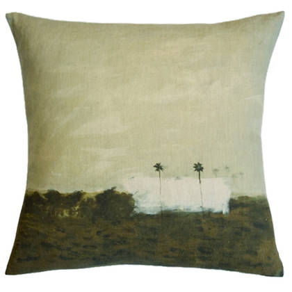 Genevieve Levy Deux Palmiers Cushion 55cm (available to order)