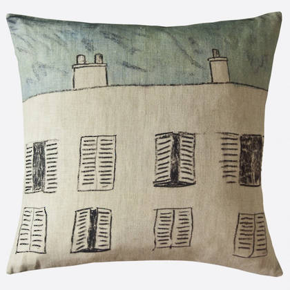 Genevieve Levy Fenetre Sur Cour Cushion 55cm (available to order)