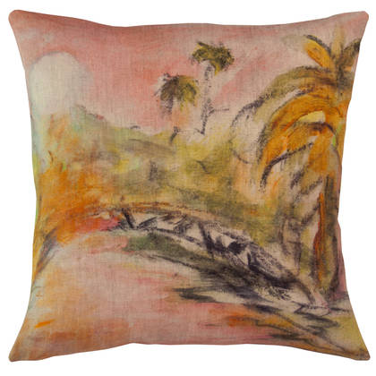 Genevieve Levy Lune Rose Cushion 55cm