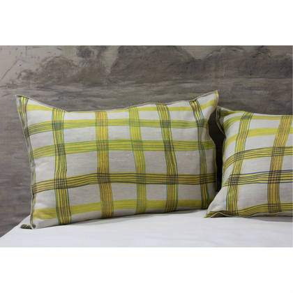 Genevieve Levy Cross Pillowcase - set of 2 (available to order)