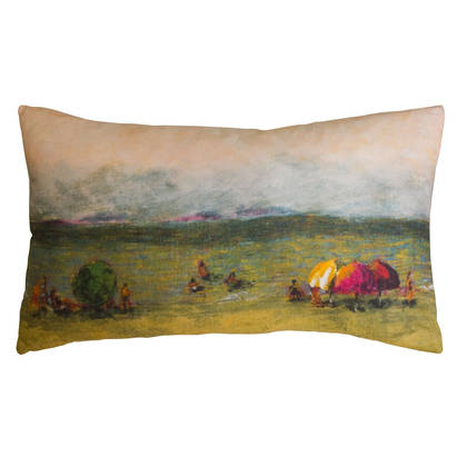 Genevieve Levy La Plage Cushion 50 x 30cm (available to order)