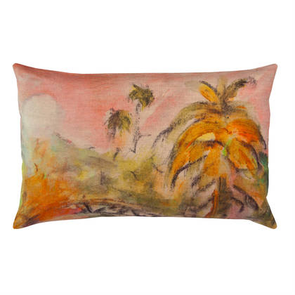 Genevieve Levy Lune Rose Cushion 50 x 30cm  (available to order)