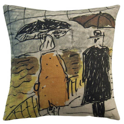 Genevieve Levy Umbrellas Cushion 55cm (available to order)
