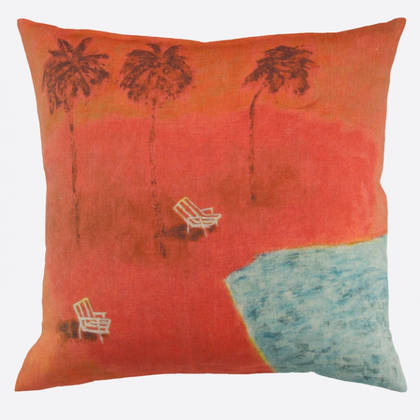 Genevieve Levy Sous les Cocotiers Cushion 55cm (available to order)