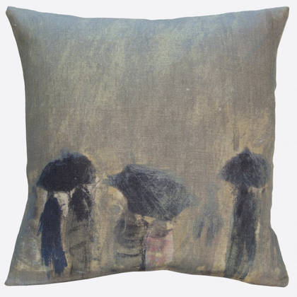 Genevieve Levy Horizon de Pluie Cushion 55cm (available to order)
