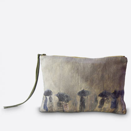 Maison Levy Linen Pouch - Horizon de Pluie (available to order)