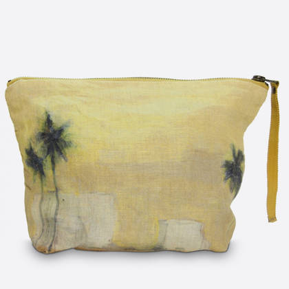 Maison Levy Linen Make up Bag - Camion Verde (sold out)