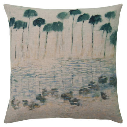 Genevieve Levy Reflejos Agua Cushion 55cm (available to order)