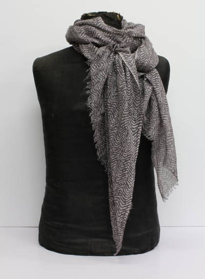 Wool & Silk Scarf - Zig Zag (out of stock)