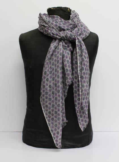 Wool & Silk Scarf - Purple Daisy (out of stock)