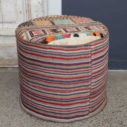 Persian Kilim Foot Stool (F30) (sorry sold)