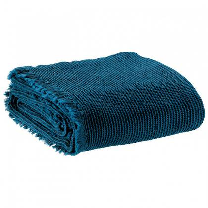 Cotton & Linen Throw - Peacock Blue (sold out)