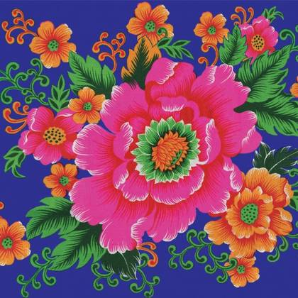 Kitsch Kitchen Oilcloth (140cm wide) - Lotus (sorry currently not available)