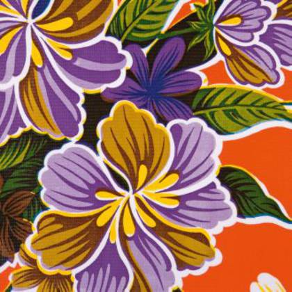 Kitsch Kitchen Oilcloth - Fortin Orange (out of stock)