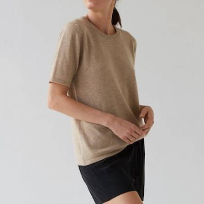 Laing Jasper Cashmere Tee in Camel (out of stock)