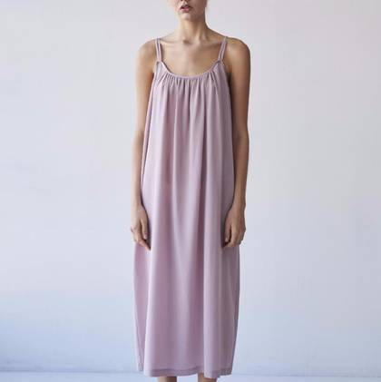Laing Victoria Silk Nightgown in Antique Blush