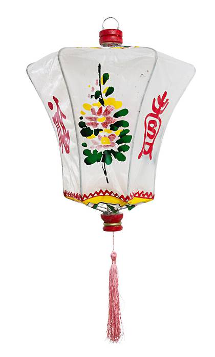Chinese Lantern in White- Medium