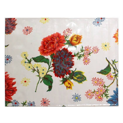 Oilcloth Placemats - set of 4 - Crisantemos White  (sorry not currently available)