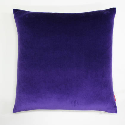 Purple Cotton Velvet 50cm Cushion