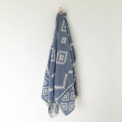 Turkish Towel Kilim - Denim (sold out)
