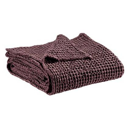 Portuguese Cotton Throw - Prune