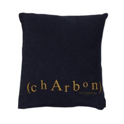 Bed & Philosophy pure linen Molly Cushion in Charbon