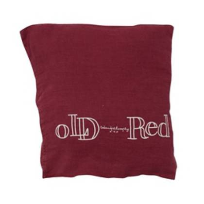 Bed & Philosophy pure linen Molly Cushion in Old Red