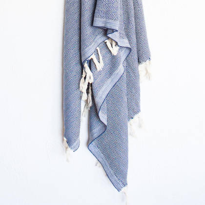 Turkish Towel  Hamptons - Blue (sold out)