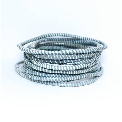 Jokko Bracelets from Mali Africa - set of 6 Dark Grey (sold out)