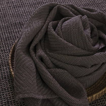 Portuguese Cotton Throw - Charcoal