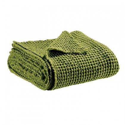 Portuguese Cotton Throw - Moss Green