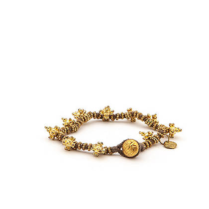 Bracelet Shakti - gold grey (out of stock)