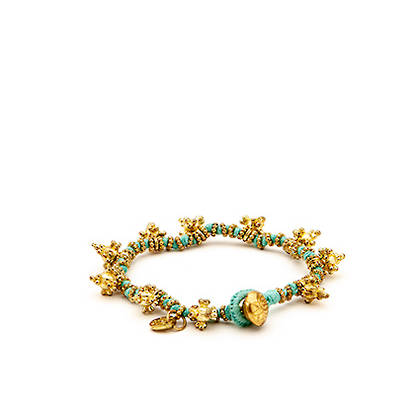 Bracelet Shakti - gold sky blue (sold out)