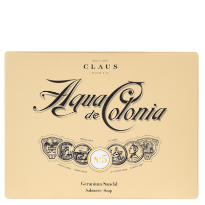 Claus Porto Soap  - Agua de Colonia 150gm Boxed. Geranium Sandal