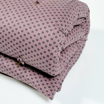 French cotton tufted mattress - Orchid Spot (available to order)