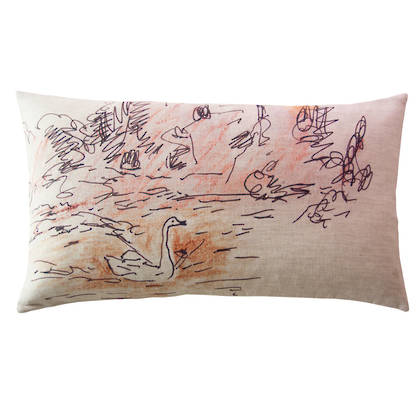 Genevieve Levy Cygne Cushion 50 x 30cm (available to pre-order)