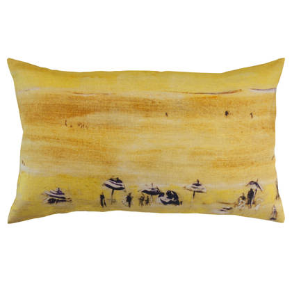 Genevieve Levy Plage Jaune Cushion 50 x 30cm (available to pre-order)